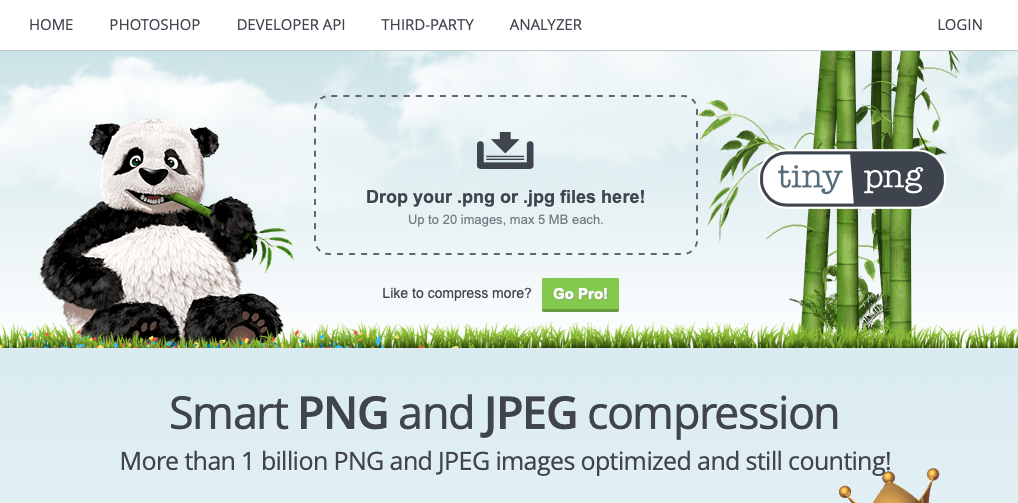 tiny png homepage screenshot